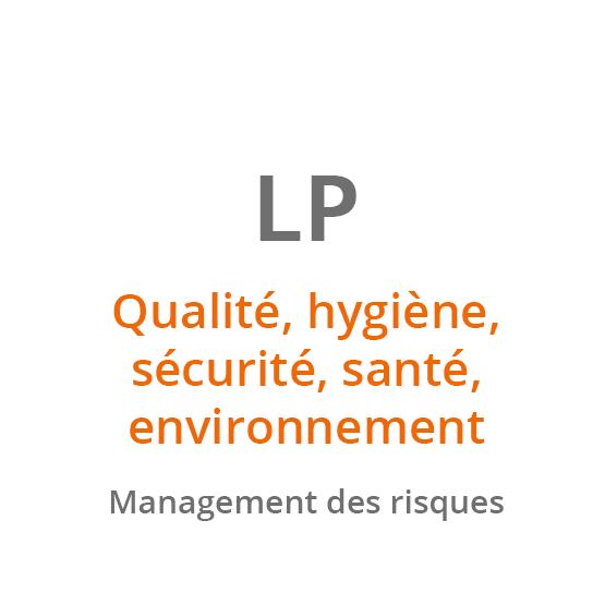 LP Qualité, hygiène, sécurité, santé, environnement