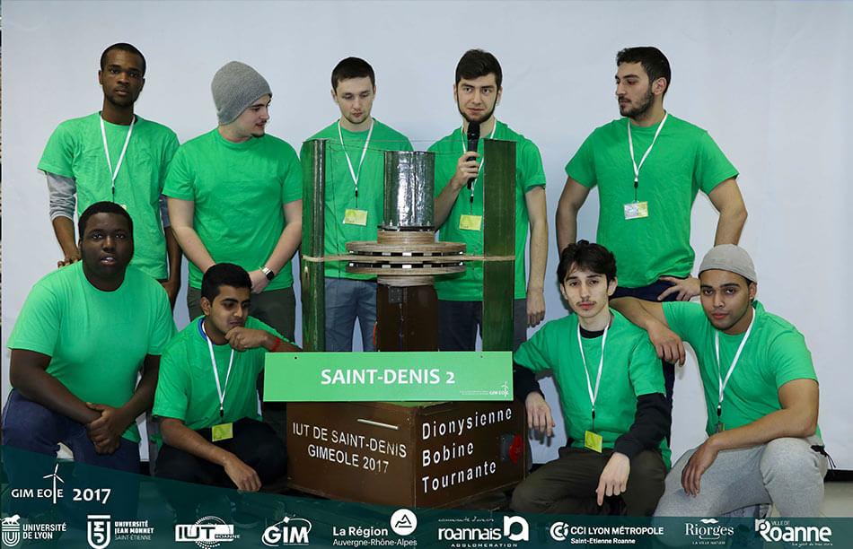 Equipe Gim'éole Saint-Denis